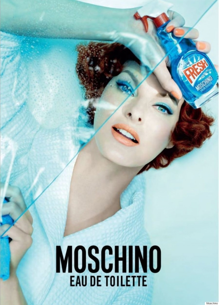 Linda Evangelista for Fresh CoutureMoschino, ph. Steven Meisel