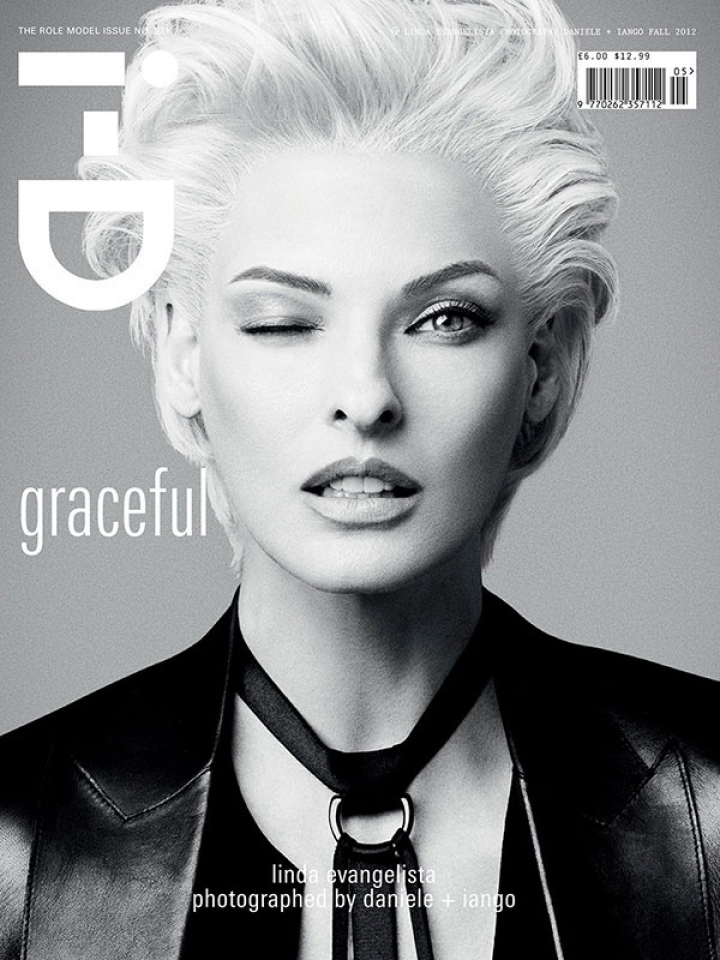 "Linda Evangelista on the cover of ""Role Model"" I-D issue, Fall 2012, ph. Daniela Duella & Iango Henzi"
